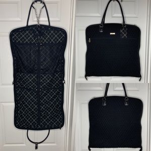 Vera Bradley Blk Quilted Travel Garment Bag